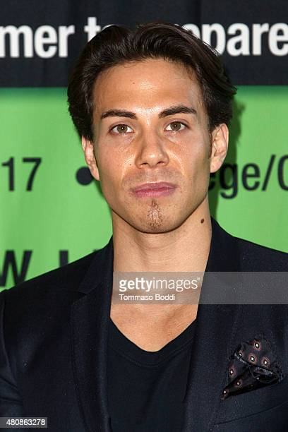 Speed skater Apolo Ohno speaks at LEAP Foundation event at UCLA on July 15 2015 in Los Angeles California