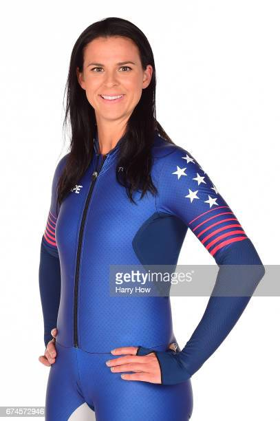 Speed skater Brittany Bowe poses for a portrait during the Team USA PyeongChang 2018 Winter Olympics portraits on April 28 2017 in West Hollywood...