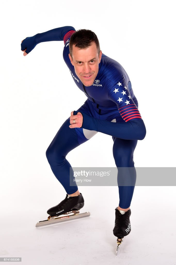 Speed skater K.C. Boutiette poses for a portrait during the Team USA PyeongChang 2018 Winter Olympics portraits on April 27, 2017 in West Hollywood, California.