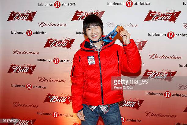 Speed skater Smon Cho arrives to the Club Bud lululemon athletica Party on February 27 2010 at the Commodore Ballroom in Vancouver Canada