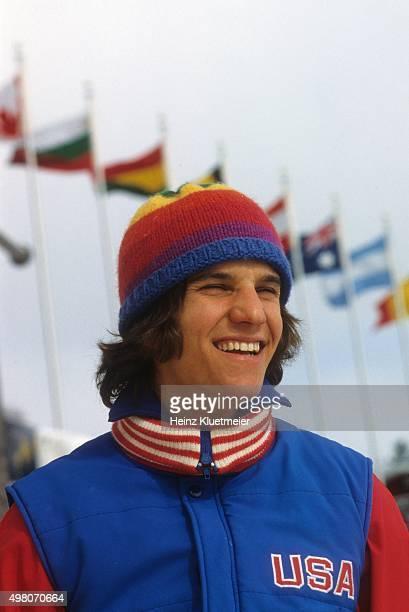 1980 Winter Olympics Closeup portrait of USA Eric Heiden posing at Sheffield Oval Lake Placid NY CREDIT Heinz Kluetmeier