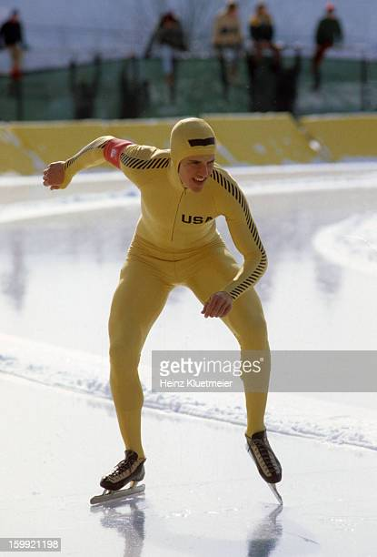 1980 Winter Olympics USA Eric Heiden set at start of race at Sheffield Oval Lake Placid NY CREDIT Heinz Kluetmeier