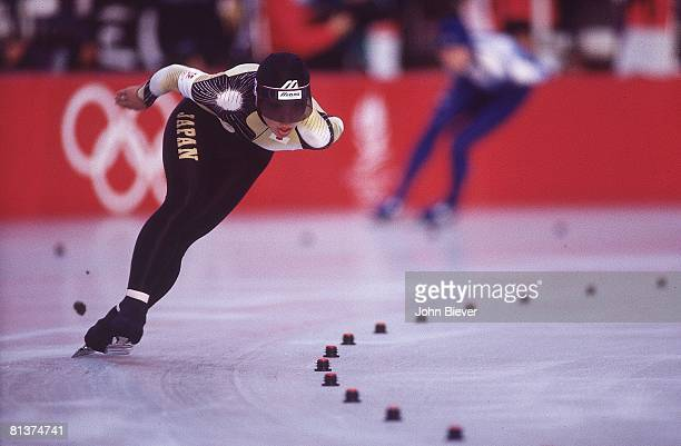 Speed Skating: 1992 Winter Olympics, Japan Seiko Hashimoto in action during 1500M competition at Anneau de Vitesse, Albertville, France 2/12/1992