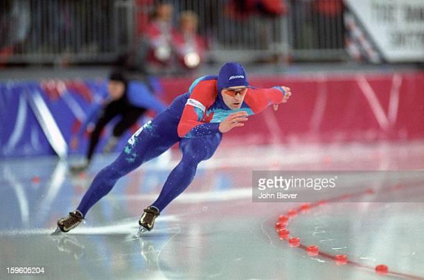 1994 Winter Olympics USA Dan Jansen in action during Men's 500M race at Vikingskipet Olympic Arena Hamar Norway 2/14/1994 CREDIT John Biever