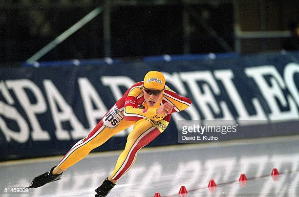 Speed Skating World Cup Long Track CAN Catriona Lemay Doan in action during competition Salt Lake City UT 12/2/2001