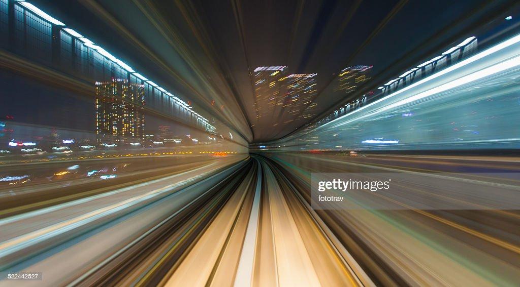 Speed - Train in Tokyo : Stock Photo