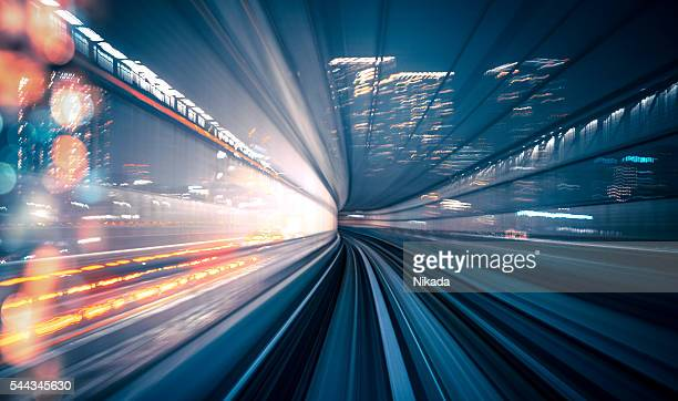 speed - train in tokyo - motion stock pictures, royalty-free photos & images