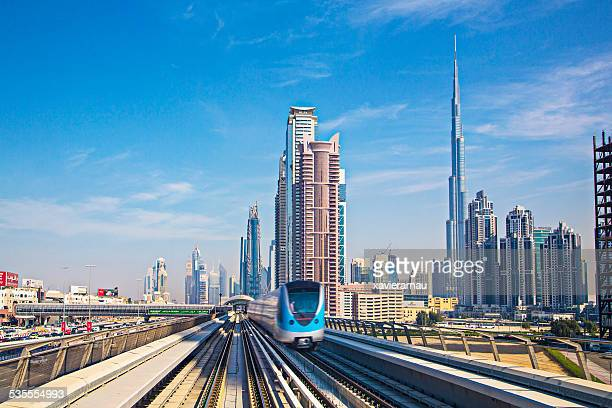 speed transport at dubai - underground station stock pictures, royalty-free photos & images