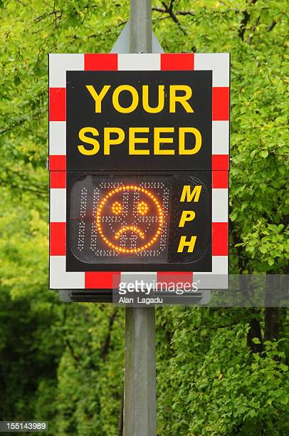 speed trap, jersey. - speed limit sign stock photos and pictures