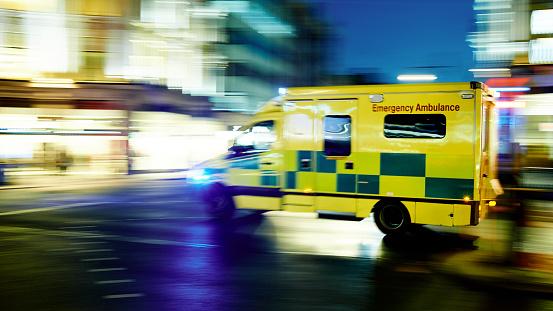 Speeding ambulance 491528790