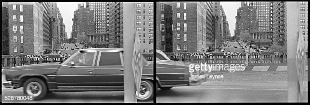 A speeding car on the West Side Highway in New York is seen in two consecutive 35mm frames The West Side Highway is a mostlysurface section of New...