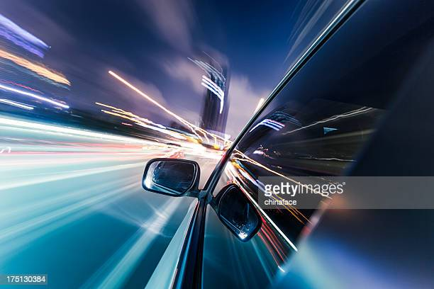 speeding car - car stock pictures, royalty-free photos & images
