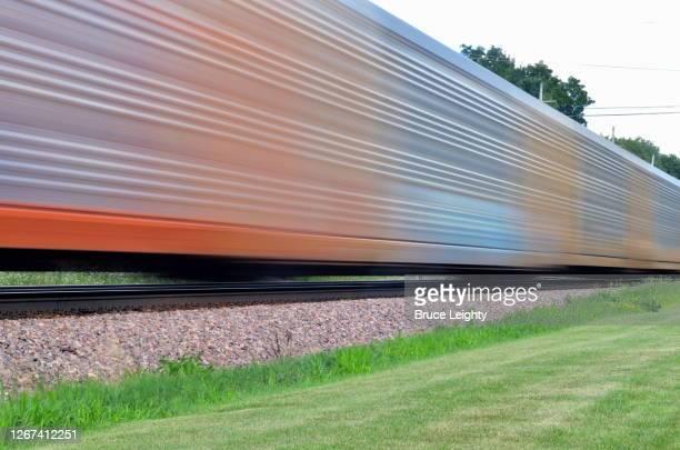 speeding freight train - geneva illinois stock pictures, royalty-free photos & images