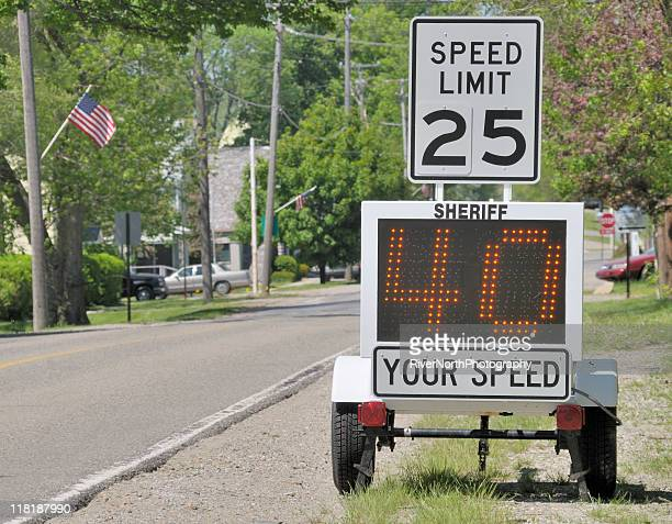 speeding - speed limit sign stock photos and pictures