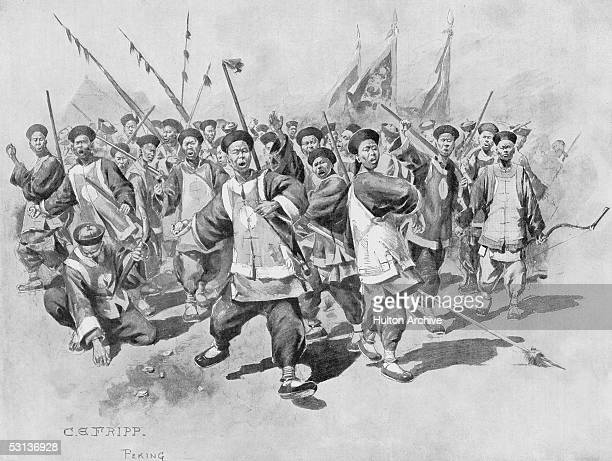 'Speeding the Parting Stranger' by C E Fripp 1895 Published in the Graphic 7th September 1895 The artist's final impression of the Chinese Army upon...