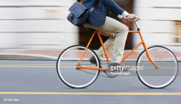 speeding through the streets - bicycle stock pictures, royalty-free photos & images