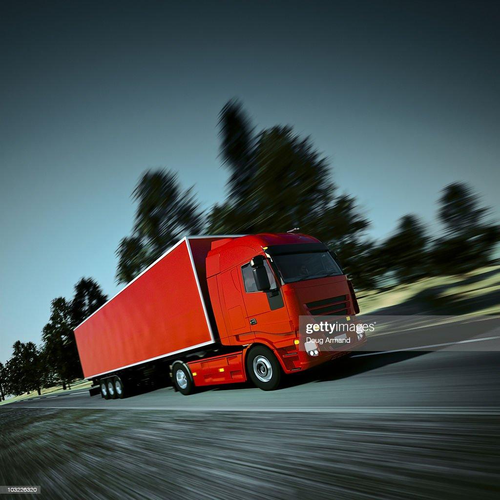 Speeding Truck : Stock Photo