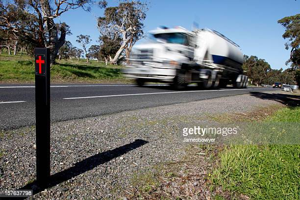 speeding truck - religious cross stock pictures, royalty-free photos & images