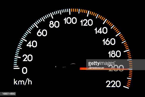 Speedometer 200 kmh