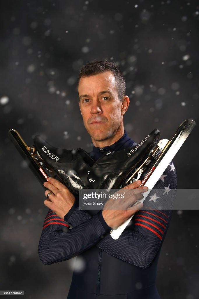Speedskater KC Boutiette poses for a portrait during the Team USA Media Summit ahead of the PyeongChang 2018 Olympic Winter Games on September 27, 2017 in Park City, Utah.