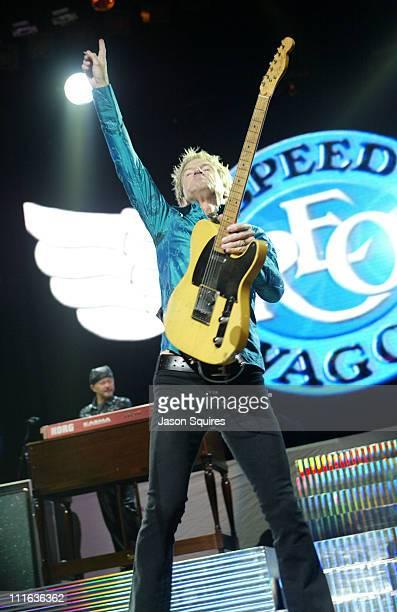 REO Speedwagon during REO Speedwagon Preforms Live in St Louis at Savvis Center in St Louis Missouri United States