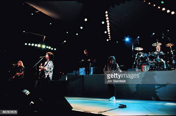 Speedwagon Perform on their Wheels Are Turnin tour in Minneapolis Minnesota in July 1987
