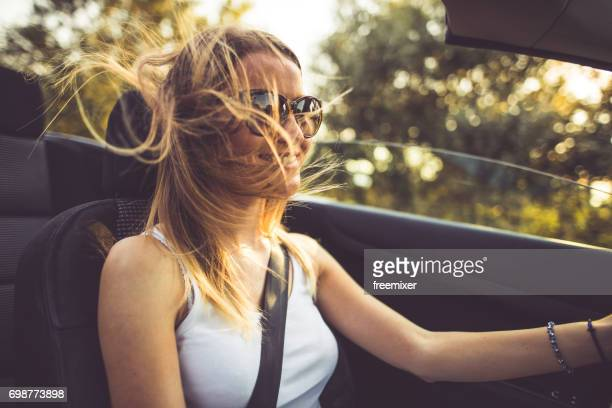 speedy roadtrip - convertible stock pictures, royalty-free photos & images