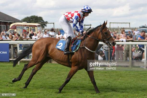 Speedy Senorita ridden by Ian Brennan goes to post for the John Bottomley 'Lifetime In Racing' Fillies' Handicap
