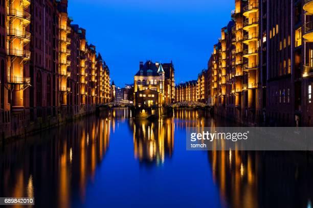 Speicherstadt Bezirk, Hamburg, Deutschland.