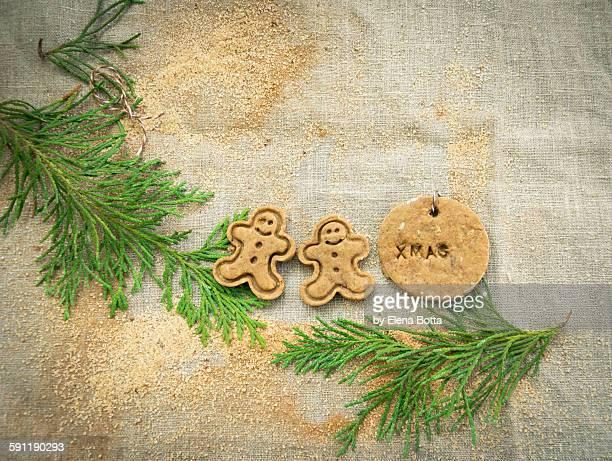 Spekulatius cookies with cinnamon sugar
