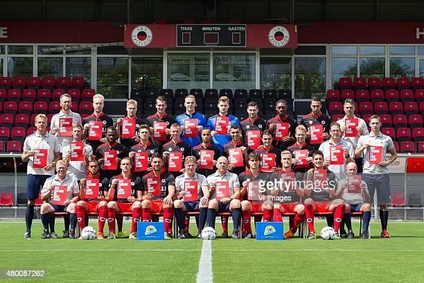 Spelers tonen rode kaart tegen Racisme Adrie Poldervaart Daan Bovenberg of Excelsior Tom van Weert of Excelsior Kevin Vermeulen of Excelsior...