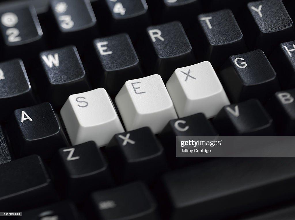 SEX Spelled on Keyboard : Foto stock