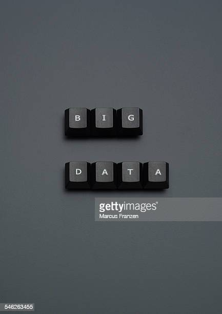 'BIG DATA' spelled out on keyboard keys on grey