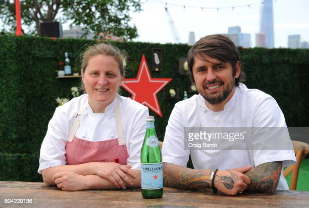 Pellegrino Taste Guide Event With Chefs April Bloomfield Ludo Lefebvre at Hudson River Park at Pier 46 on June 30 2017 in New York City