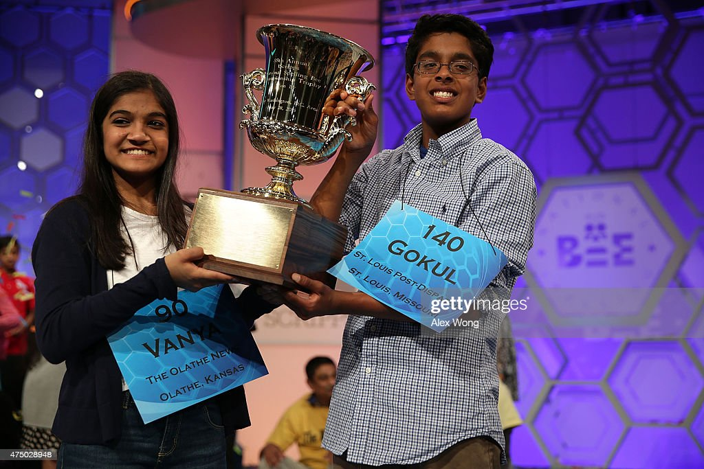 Champion Spellers Compete In Scripps National Spelling Bee : News Photo
