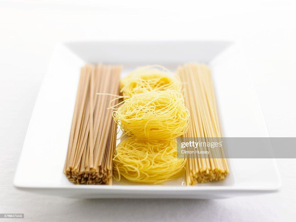 Spelt Linguine Egg Linguine And Angel Hair Pasta Stock Photo Getty