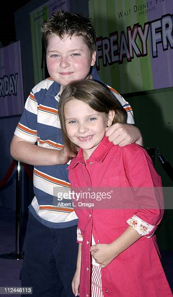 Spencer and Abigail Breslin during Premiere of Freaky Friday at El Capitan Theater in Hollywood California United States