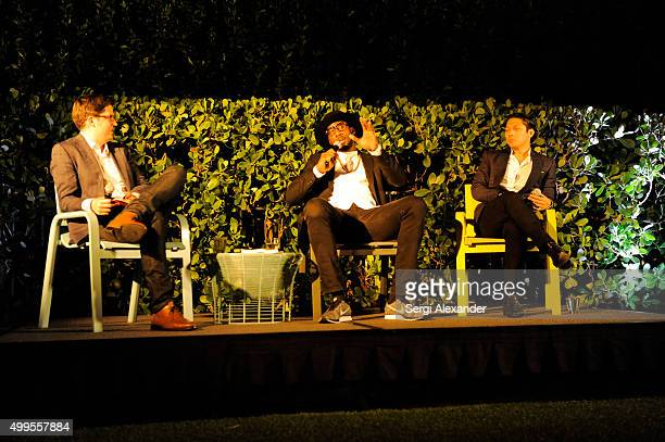 Spencer Bailey Amar'e Stoudemire and Robbie Antonio attend the SURFACE Magazine and W South Beach Hotel Residences present Design Dialogues No 23 at...