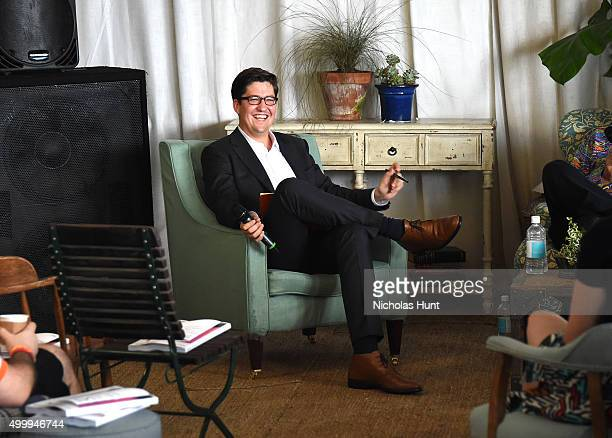 Spencer Bailey and attends Design Dialogues No 25 with Jean Pigozzi Simon de Pury Spencer Bailey hosted by Soho Beach House Surface Magazine at Soho...