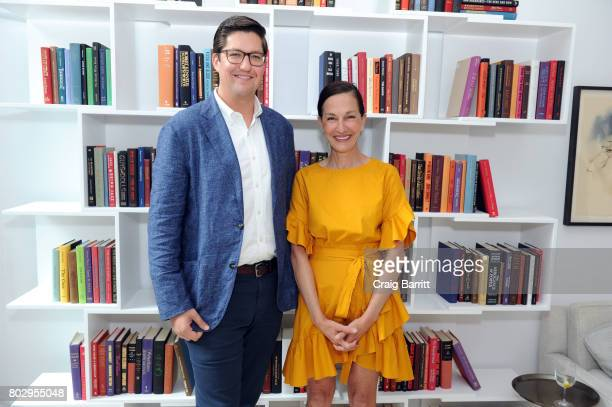 Spencer Bailey and Cynthia Rowley attend Surface Magazine presents Design Dialogues No 37 featuring Cynthia Rowley and Shaun Osher on June 28 2017 in...