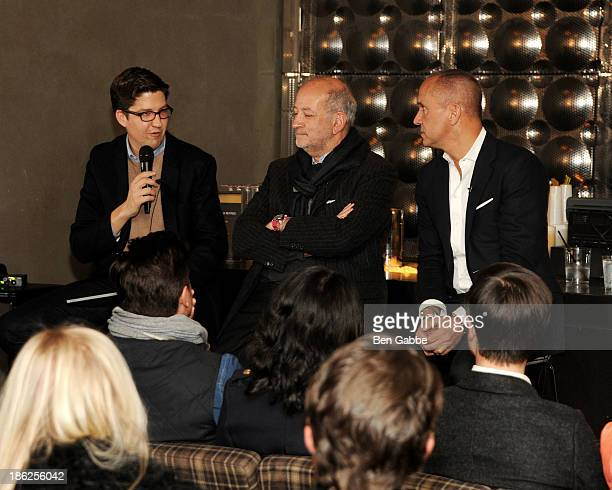 Spencer Bailey, architect Enrique Norten and hotelier Carlos Couturier attend the Surface Magazine And Microsoft's Surface 2 Present Design Dialouges...