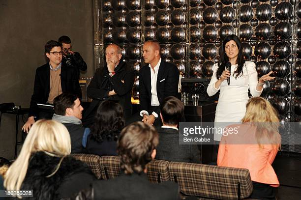 Spencer Bailey, architect Enrique Norten, hotelier Carlos Couturier and publisher Keren Eldad attend the Surface Magazine And Microsoft's Surface 2...
