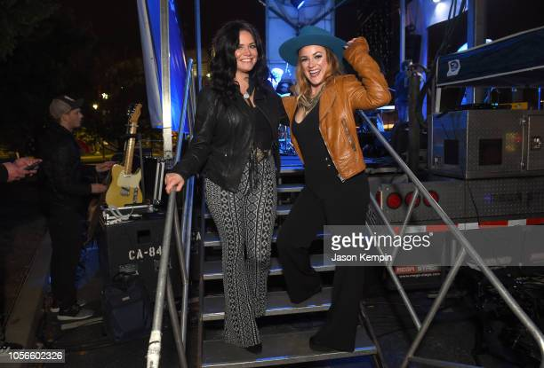 Spencer Bartoletti and Presley Tucker of Reverie Lane attend Charles Esten's Light The Night Walk And Light The Late Night Concert at Nissan Stadium...