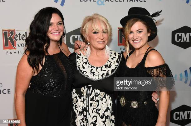 Spencer Bartoletti Tanya Tucker and Presley Tucker attend the GLAAD TY HERNDON's 2018 Concert for Love Acceptance at Wildhorse Saloon on June 7 2018...