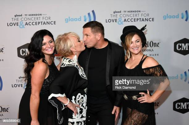 Spencer Bartoletti Tanya Tucker Ty Herndon and Presley Tucker attend the GLAAD TY HERNDON's 2018 Concert for Love Acceptance at Wildhorse Saloon on...