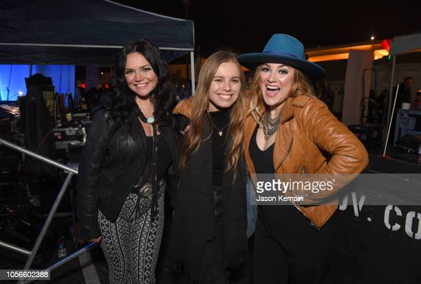 Spencer Bartoletti Taylor Noelle and Presley Tucker of Reverie Lane attend Charles Esten's Light The Night Walk And Light The Late Night Concert at...
