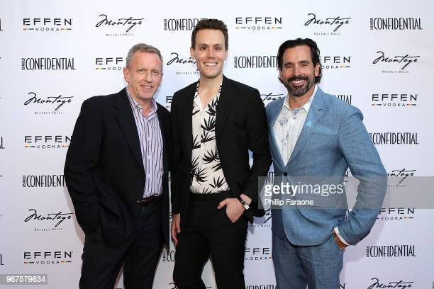 Spencer Beck Matthew Hoffman and Chris Gialanella attend the Los Angeles Confidential Celebration for Portraits of Pride with GLAAD and Laverne Cox...