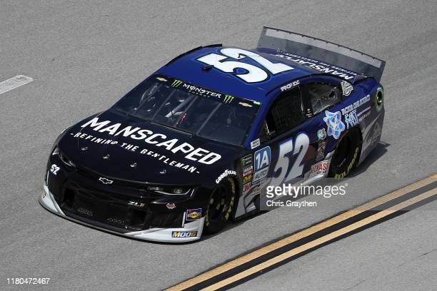 Spencer Boyd, driver of the Medicine Shoppe Chevrolet, during practice for the Monster Energy NASCAR Cup Series 1000Bulbs.com 500 at Talladega...
