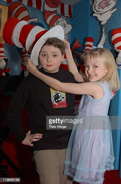 3d6c93e0 Spencer Breslin and Dakota Fanning at Dr Suess' The Cat In The Hat Toy  Collection