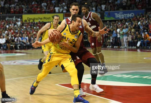 Spencer Butterfield of Alba Berlin and Stefan Jovic of FC Bayern Munich during the game between FC Bayern Munich and Alba Berlin on june 16 2018 in...